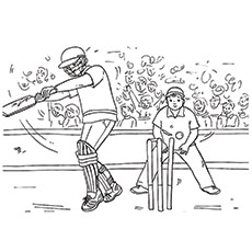 Cricket Coloring Page - A Cricket Match