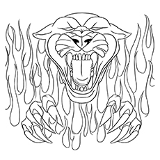 panther coloring pages a ferocious panther