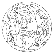 Panther Coloring Pages - A Panther In The Jungle