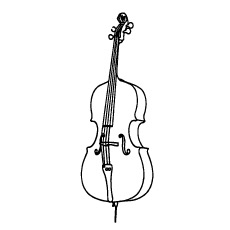 Acoustic Violin Coloring Page