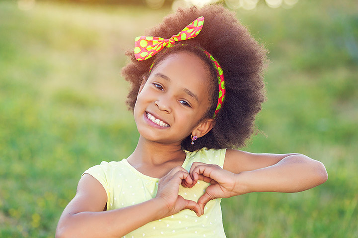 Afro Frizzy Hair with Bow Ribbon Images