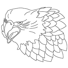 Falcon Coloring Pages - Aggressive Falcon