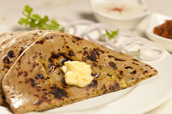Aloo Methi (Fenugreek) Tofu Paratha