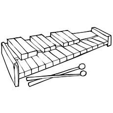 Xylophone Coloring Page - Amadinda