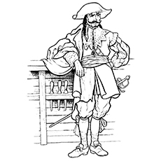Pirate Coloring Pages - An English Pirate
