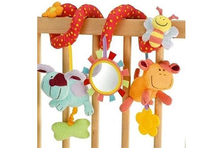 Animal Handbells Developmental Toy Bed Bells Rattle Soft Toys For Baby Fast Ship