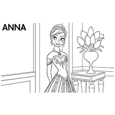 Anna Character From Frozen Movie Baby And Elsa Making Olaf In Coloring Pages