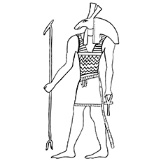 Anubis God of Embalming Coloring Page