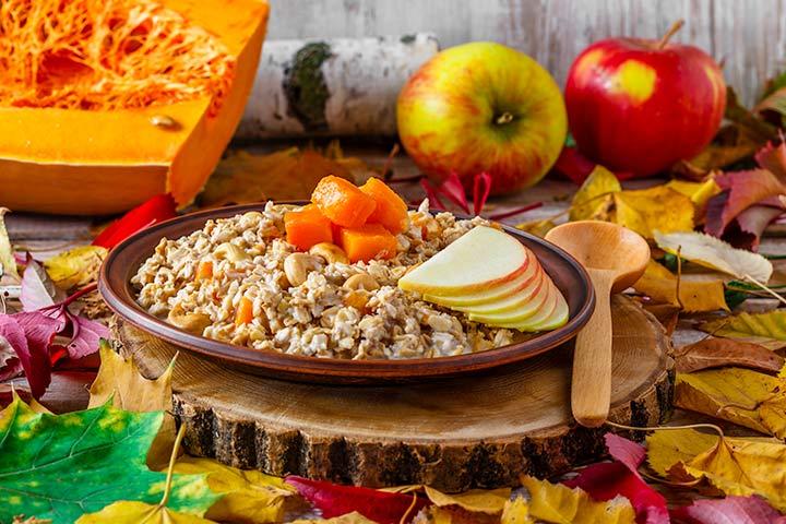 Apple, Pumpkin And Oatmeal Breakfast Recipe