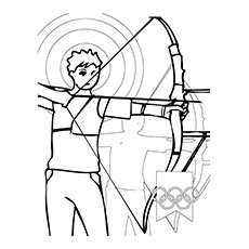 Archery Olympics Coloring Pages