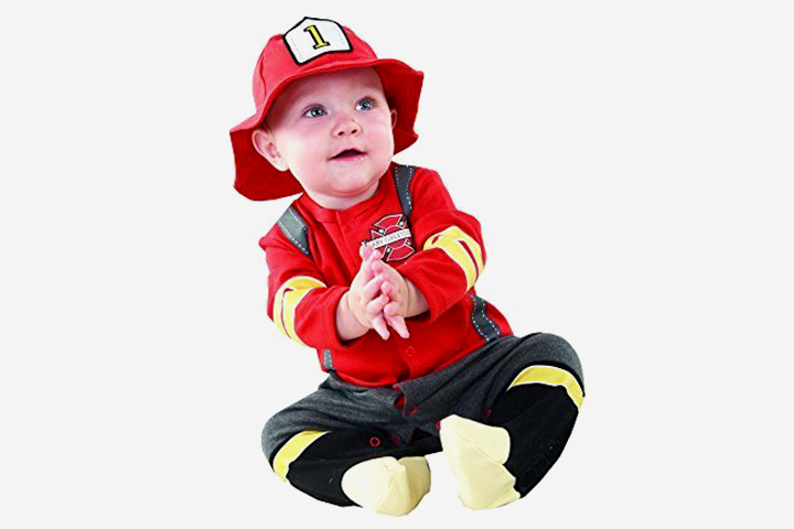 Toys For 2 Month Old - Baby Aspen, Baby Firefighter Themed Gift Box, Baby Firefighter