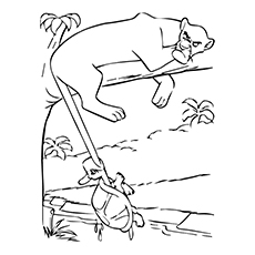 Panther Coloring Pages - Bagheera