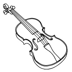Baroque Violin Coloring Page