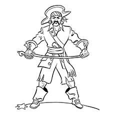 Pirate Coloring Pages - Bartholomew Roberts