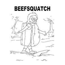 burger coloring pages beefsquatch