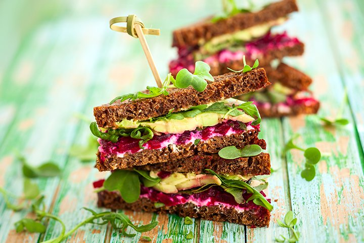 Vitamins While Breastfeeding - Beet, Spinach And Cheese Sandwich