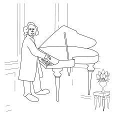 Beethoven Playing Piano 317