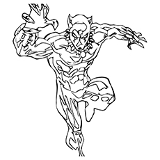 Character Black Panther of Avengers Coloring Pages to Print