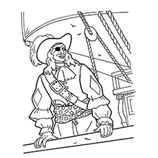 pirate coloring pages blackbeard pirate - Pirate Coloring Page
