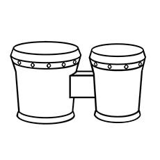 bongo drum coloring page