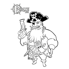 Pirate Coloring Pages - Boochbeard