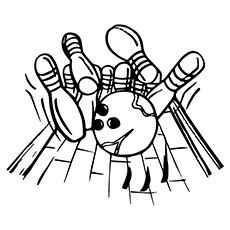 Bowling Coloring Pages - Bowling Alley