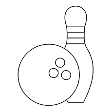 Bowling Coloring Pages - Bowling Equipment