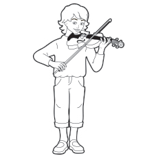 10 Lovely Violin Coloring Pages For Your Toddler