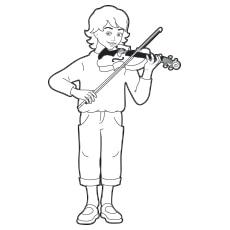 Boy Playing Violin