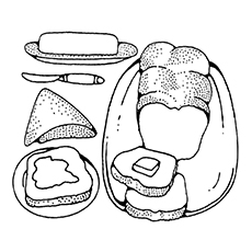Bread And Butter Coloring Page