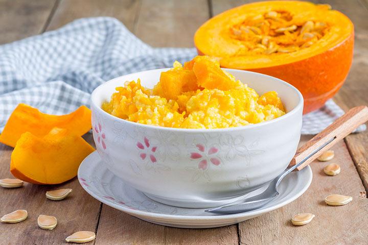 Brown Rice And Pumpkin Porridge