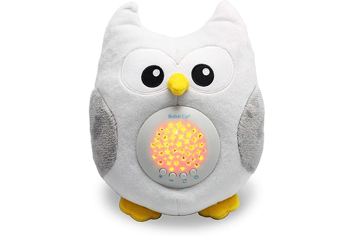 Bubzi Co Baby Toys Owl White Noise Sound Machine 4784