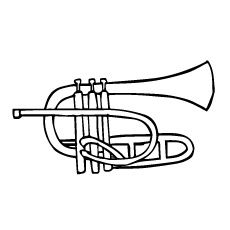 10 Cute Trumpet Coloring Pages For Your Toddler