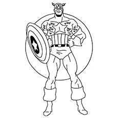 free printable coloring pages of avengers character captain america