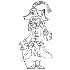Pirate Coloring Pages - Captain Hook
