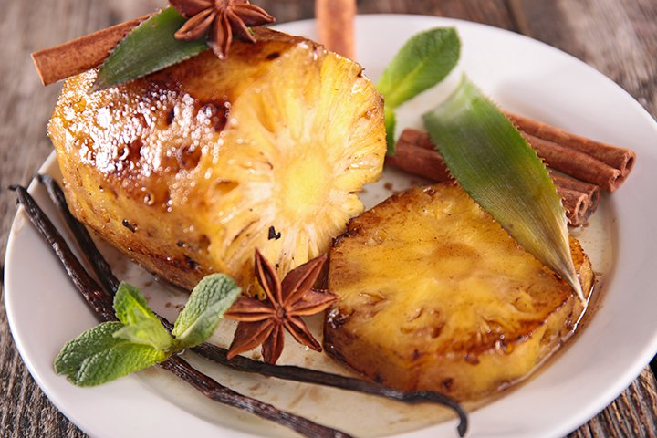 Pineapple Recipes For Kids - Caramelized Pineapple
