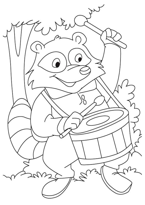 Cartoon-Raccoon