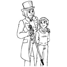 Charlie And The Chocolate Factory Coloring Pages  - Charlie And Willy