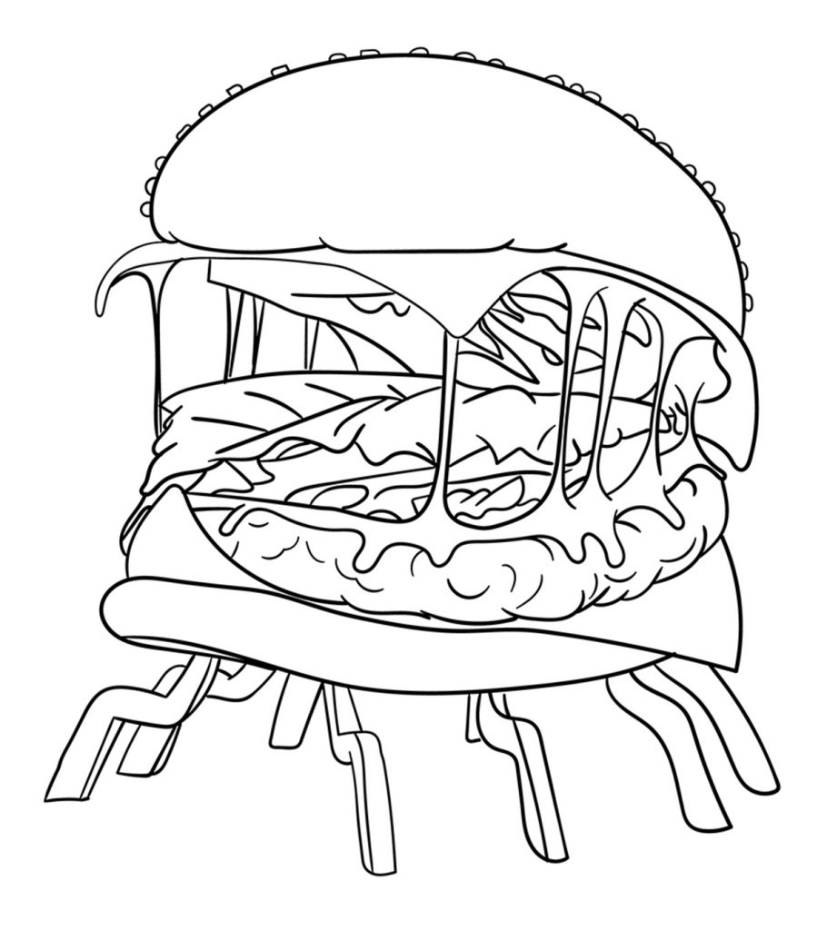 10 Printable Burger Coloring Pages For Your Little One
