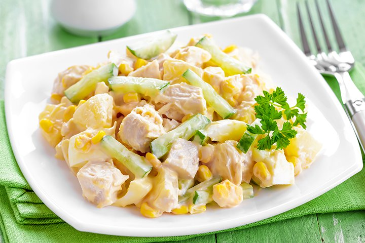 Pineapple Recipes For Kids - Chicken And Pineapple Salad