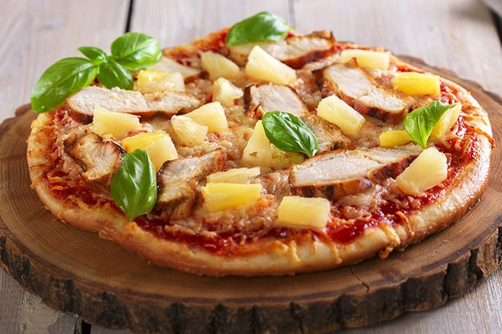 Pineapple Recipes For Kids - Chicken, Pineapple, And Cheese Pizza