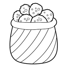 Cookie Coloring Pages - Chocolate Chip Cookies