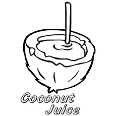 Coconut Coloring Page - Coconut Water