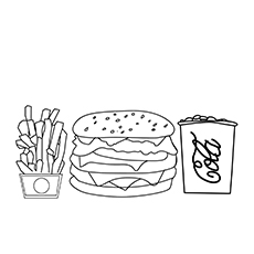 Cola French Fries And Burger 17