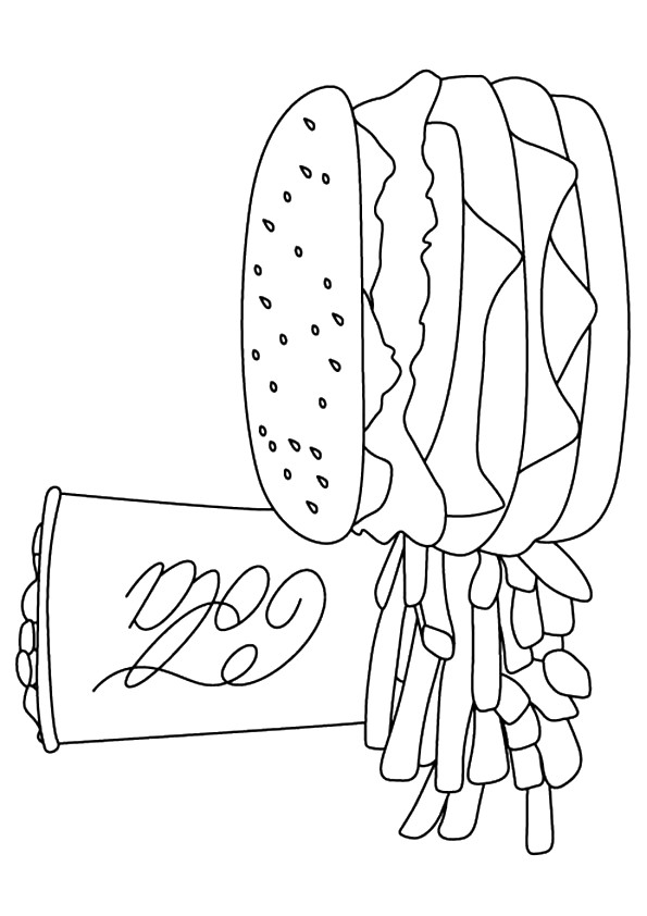 french fries coloring pages - photo#33