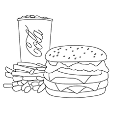 hamburger bun coloring page - photo #22