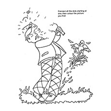 Golf Coloring Pages - Connect The Dots Golf