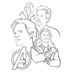 coloring pages core members avengers to print - Free Printable Coloring Pages Avengers