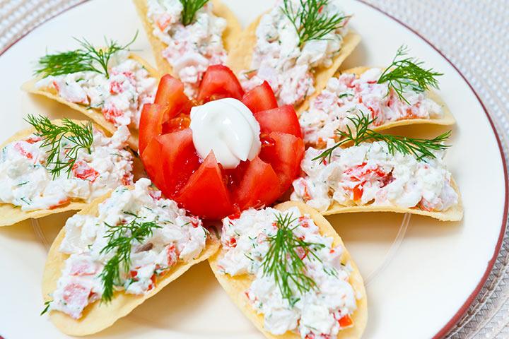 Салат с чипсами и крабовыми палочками рецепт с