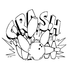 Bowling Coloring Pages - Crash